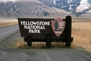Door to Yellowstone National Park