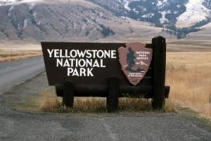 Door to Yellowstone National Park